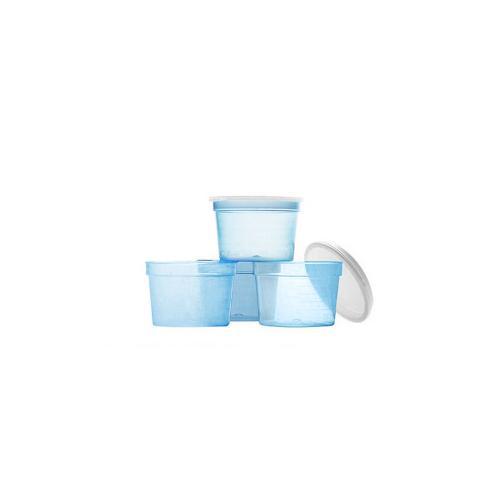 Behållare - i blått med lock, 30ml, 50st