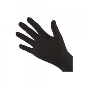 Handskar Nitril, svarta, S, puderfri