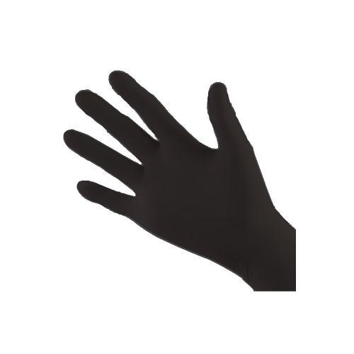 Handskar Nitril, svarta, M, puderfri 200st/pkt