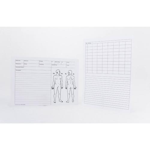 Journalkort - akupunktur och massage, A5, 100st