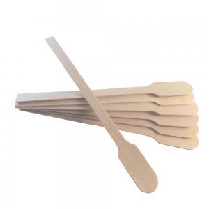 Cremespatlar i trä, paddelformade och 12 cm långa. 200 st per paket.
