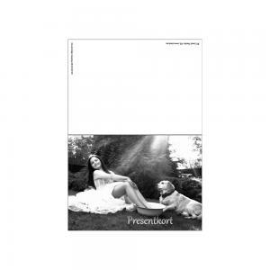 Presentkort, svart-vit, 20 st.