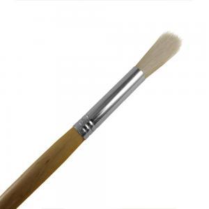 Mellanstor pensel med skaft i naturfärgat trä och rund borst. För påföring av paraffin eller ansiktsmasker.