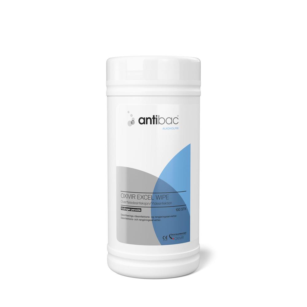 Antibac Oxivir Excel Wipes, 100st