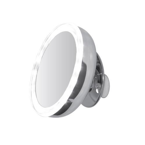 Spegel LED 130 mm 5x först. sugpropp / magnet