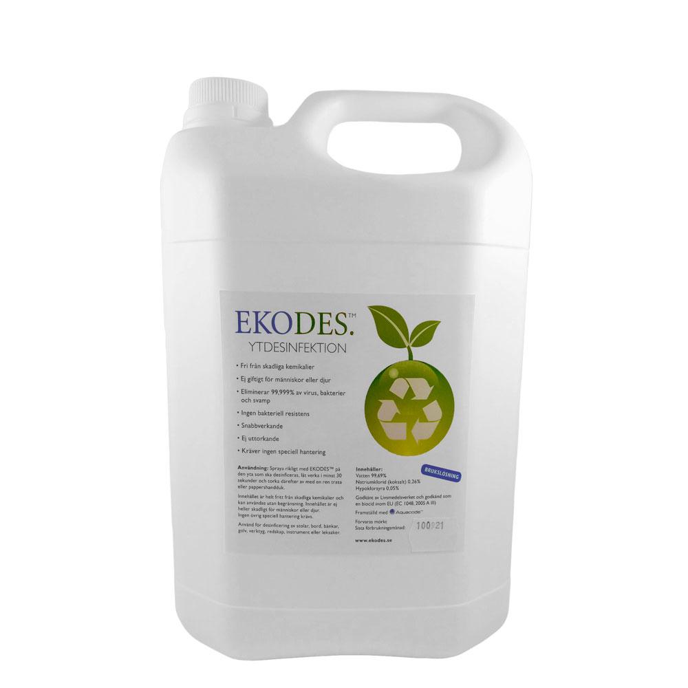Ekodes miljövänlig ytdesinfektion i dunk. 5 liter.