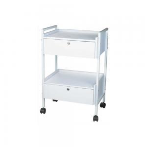 Avlastningsbord med 2 lådor, vit