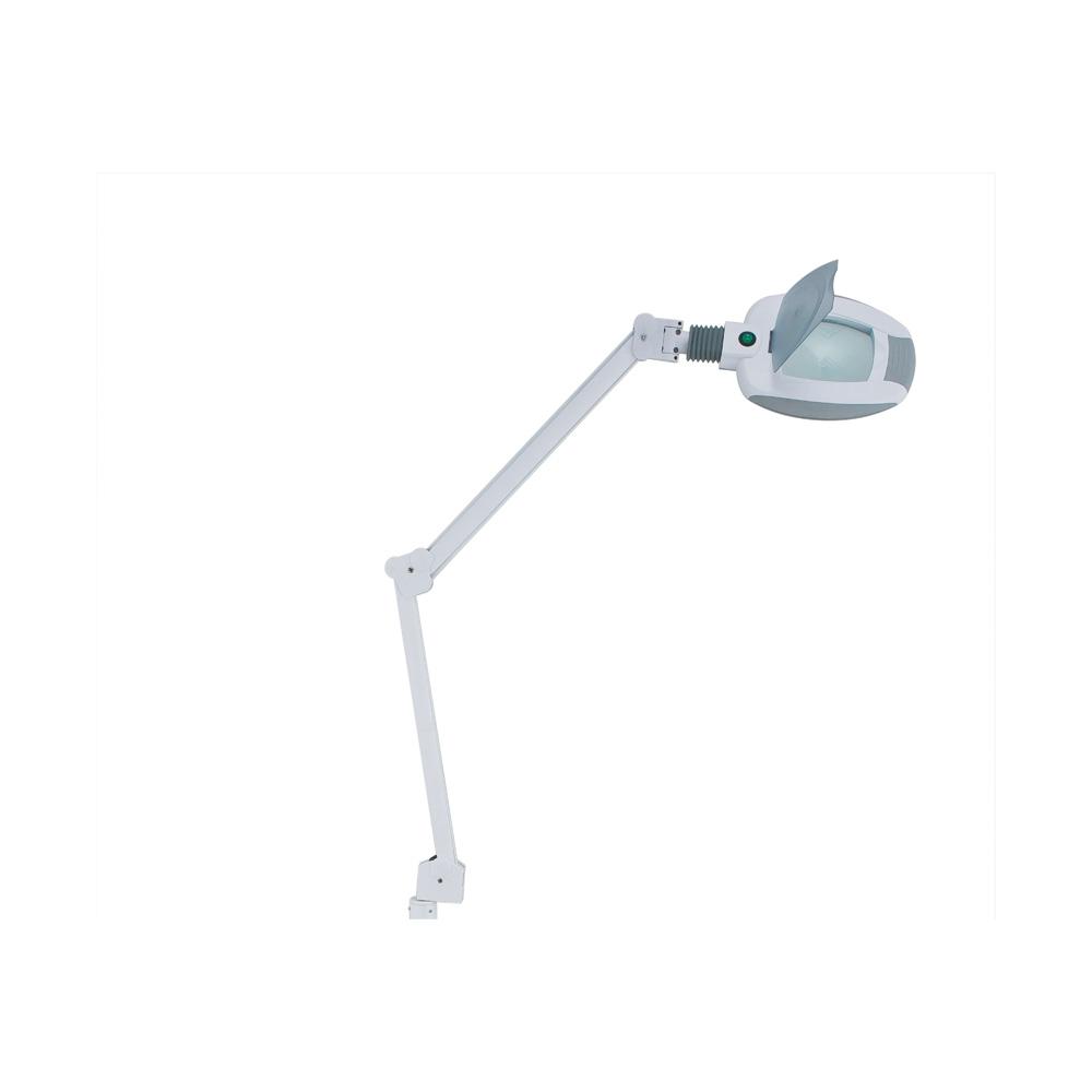 Lupplampa, med ledbelysning och bordsfäste