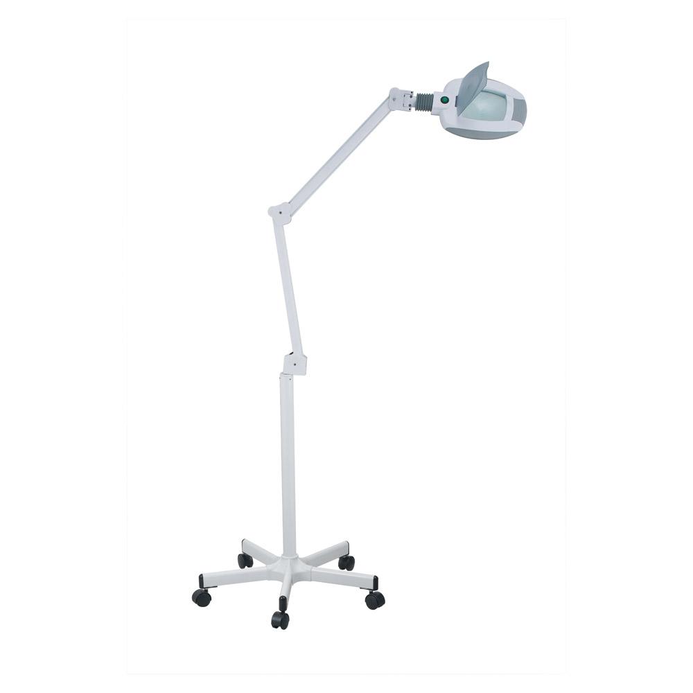 Lupplampa, med ledbelysning och stativ