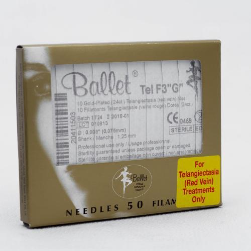 """Ballet nålar, Tel F3""""G"""", 50st/frp, guld"""