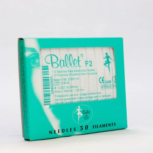 Ballet nålar, oisolerade rostfria F2