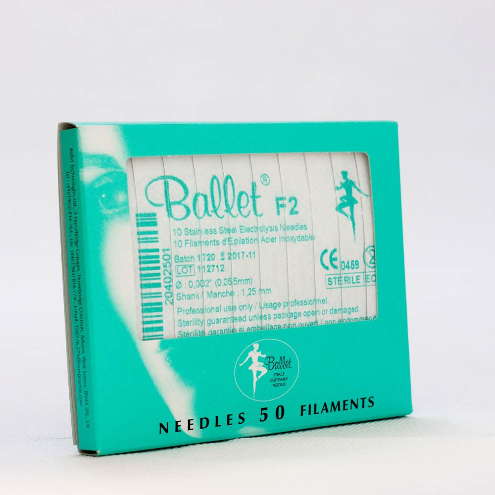 Ballet nålar, oisolerade rostfria F4