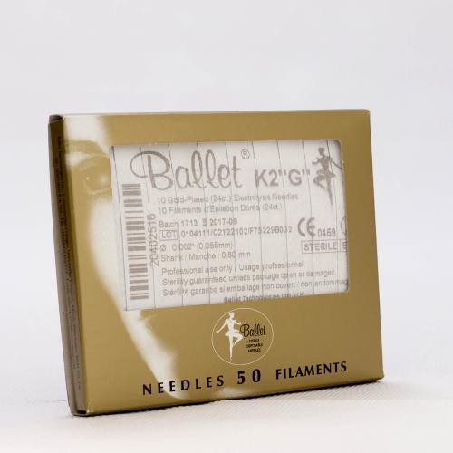 Ballet nålar, guldpläterade K4