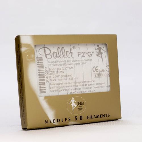 Ballet nålar, guldpläterade F2