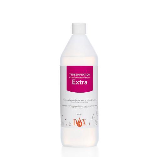 Flaska med DAX Ytdesinfektion Extra, 1 liter.