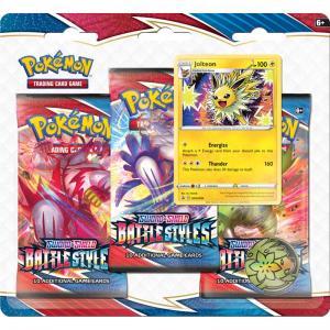 Pokémon 3-pack Battle Styles booster med pokémynt och promokort (blisterpack)