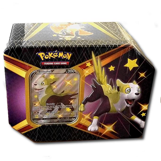 Pokémon, Shining Fates V Tin (stor plåtask med booster-paket mm)