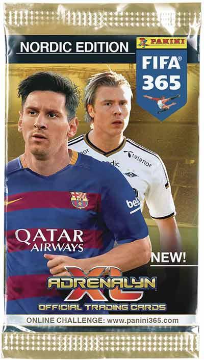 Paket, 2015/16 Panini Adrenalyn XL Fifa 365, Nordic edition