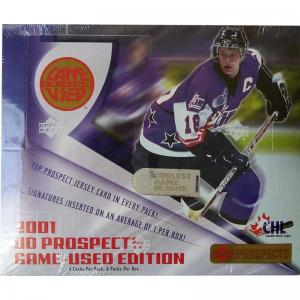 Sealed Box 2001-2002 Upper Deck Prospects CHL Game Used Edition Hobby