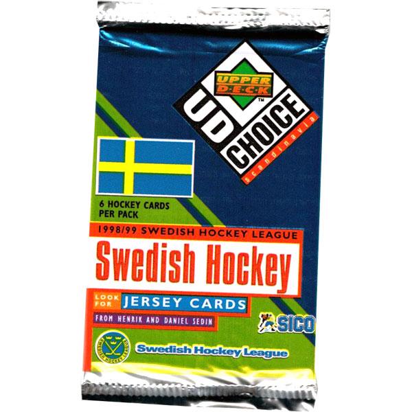 1 Pack 1998-99 UD Swedish SHL Elitserien
