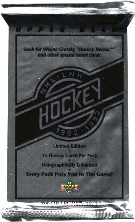 1 Pack 1992-93 Upper Deck, Low Series