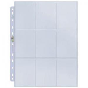 1 Plastic page - Silver series - 9 Pocket