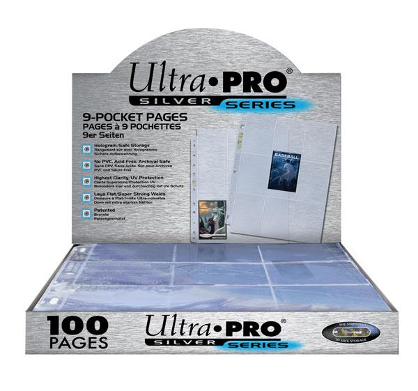 100st Plastfickor för pärm - Silver series - 9 Pocket