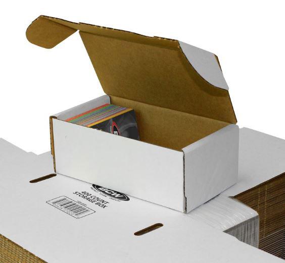 Papplåda för ca. 400 kort / 400 COUNT STORAGE BOX