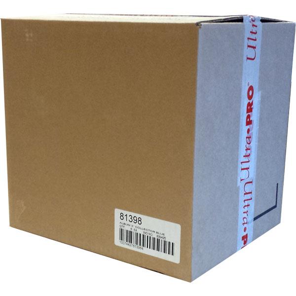 Pärm för lösa plastfickor - 3 ringspärm, Blå. Hel Case - 6st