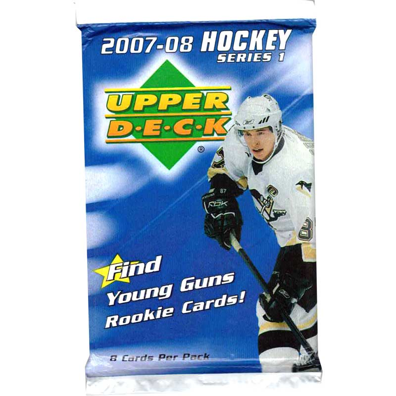 1 Pack 2007-08 Upper Deck Series 1 Retail (White boarder)