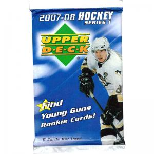 1 Pack 2007-08 Upper Deck Series 1 Retail (White boarder)