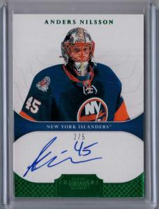 Anders Nilsson 2011-12 Dominion Emerald #126 Autograph /5