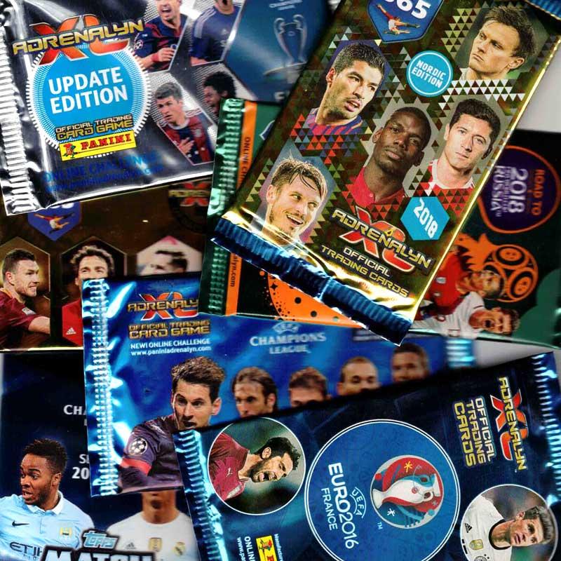 Bargain Box - 100 Football card packs - Mixed sets