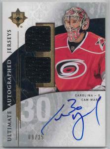 Cam Ward 2009-10 Ultimate Collection Ultimate Jerseys Autographs #AJCW