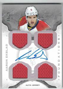 Aaron Ekblad 2014-15 The Cup Foundations Jerseys Autographs #CFAE /15