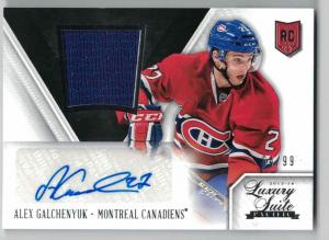 Alex Galchenyuk 2013-14 Luxury Suite #105 Jersey Autograph RC /99