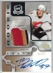 Brandon Prust 2006-07 The Cup Gold Rainbow Autographed Rookie Patches #117 20/37