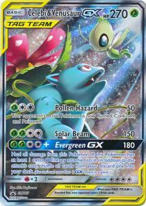 Pokemon S&M - Celebi & Venusaur GX - SM167 - Ultra Rare Promo