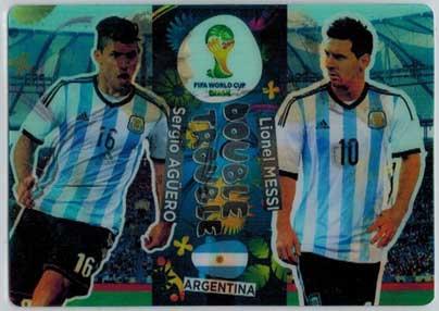 Double Trouble, 2014 Adrenalyn World Cup #412 Lionel Messi / Sergio Agüero