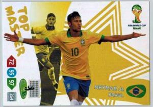 Top Master, 2014 Adrenalyn World Cup #407 Neymar Jr.