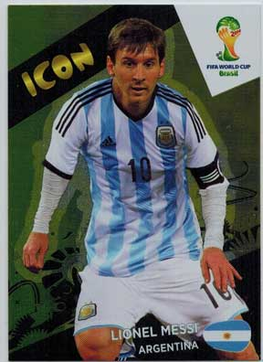 Icon, 2014 Adrenalyn World Cup #417 Lionel Messi