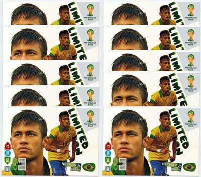XXL Limited Edition, 2014 Adrenalyn World Cup, Neymar Jr. (10)
