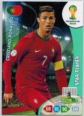 Star Player, 2014 Adrenalyn World Cup #277 Cristiano Ronaldo