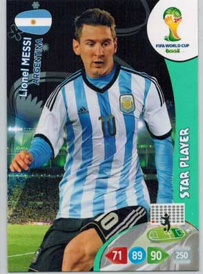 Star Player, 2014 Adrenalyn World Cup #018 Lionel Messi