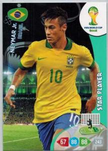 Star Player, 2014 Adrenalyn World Cup #060 Neymar Jr.