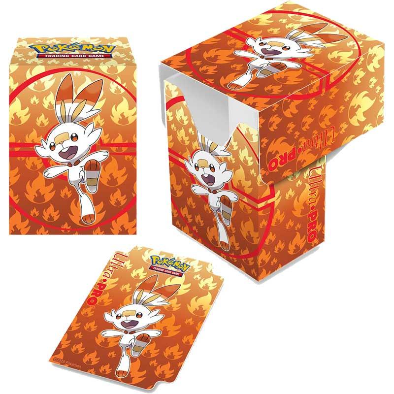 Pokémon Deck Box, Ultra Pro, Scorbunny (Med plats för ca 80 kort i sleeves)