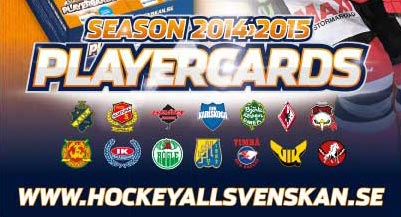 Base set, 2014-15 HockeyAllsvenskan (350 cards)