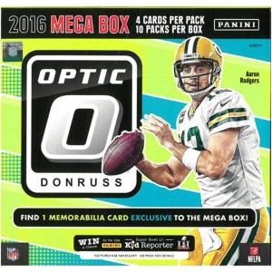 Sealed Mega Box 2016 Panini Donruss Optic Football