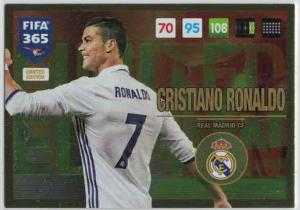 XXL Cristiano Ronaldo, XXL Limited Edition, Panini Adrenalyn 365 2016-17 (Firar) (Stort kort))