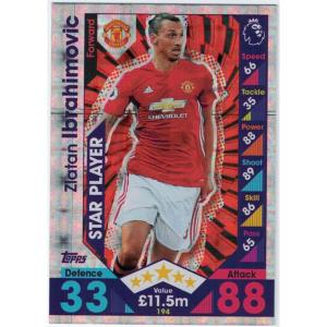 Zlatan Ibrahimovic Star Player, 2016-17 Topps Match Attax Premier League